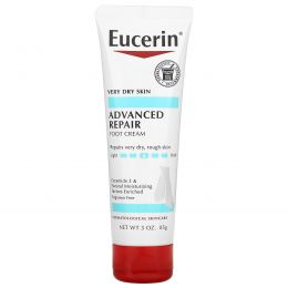 Eucerin, Передовое восстановление, kturrbq по ощущению крем для ног, без отдушки, 3 унции (85 г)