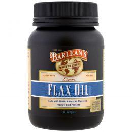 Barlean's, Льняное масло, 100 мягкие таблетки