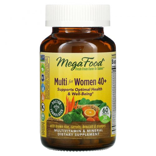 MegaFood, Multi for Women 40+, 60 Tablets