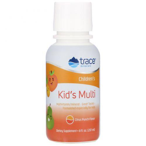 Trace Minerals Research, Детский мультивитамин, цитрусовый пунш, 8 жидк. унц. (237 мл)