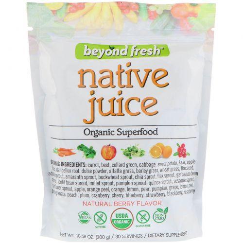 Beyond Fresh, Истинный сок, органическая чудо-пища, натуральный ягодный вкус, 300 г