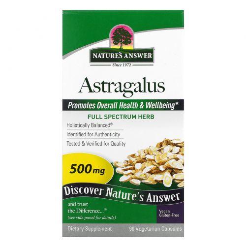 Nature's Answer, Астрагал, 500 мг, 90 растительных капсул
