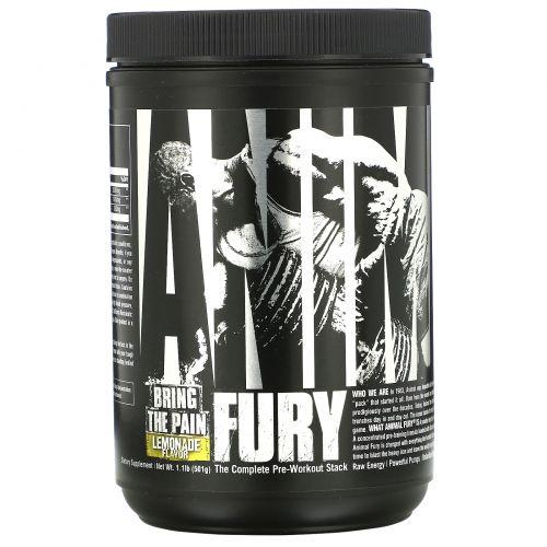 Universal Nutrition, Animal Fury, Lemonade, 489.9 g
