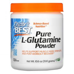 Doctor's Best, Pure L-Glutamine Powder, 10.6 oz (300 g)