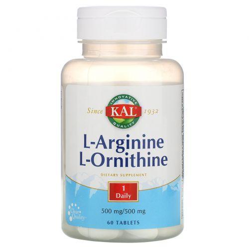 KAL, L-аргинин L-орнитин, 60 таблеток