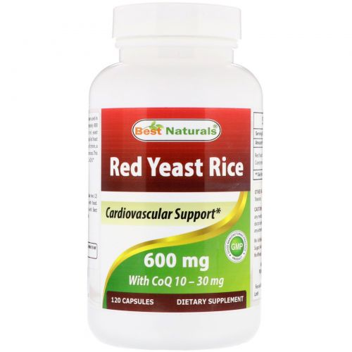 Best Naturals, Red Yeast Rice, with CoQ10, 600 mg, 120 Capsules