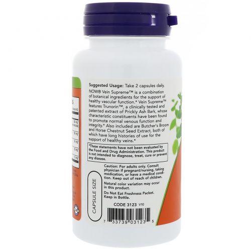 Now Foods, Здоровые вены, 90 растительных капсул