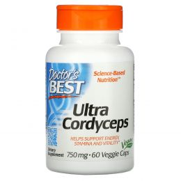 Doctor's Best, Ultra Cordyceps, 750 мг, 60 вегетарианских капсул
