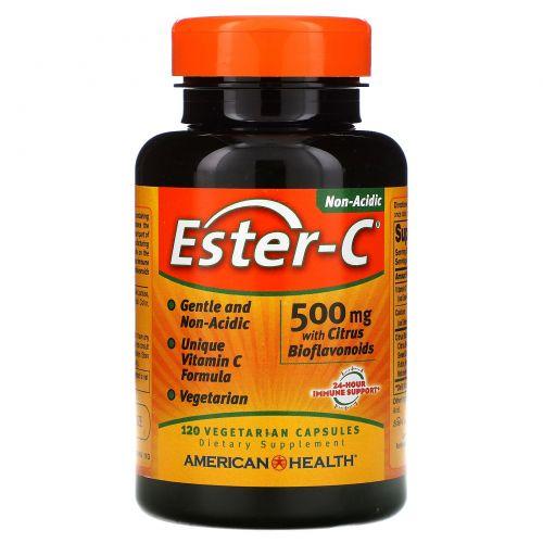 American Health, Эстер-C, 500 мг, 120 капсул на растительной основе