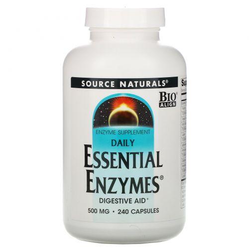 Source Naturals, Ферменты для ежедневного применения, 500 мг, 240 капсул