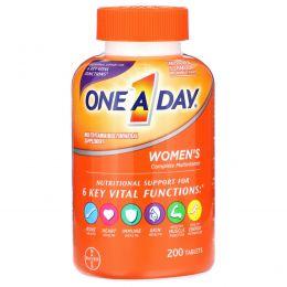 One-A-Day, Женская формула, мультивитаминная/мультиминеральная добавка, 200 таблеток