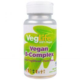 VegLife, B-комплекс, веганский, 100 таблеток
