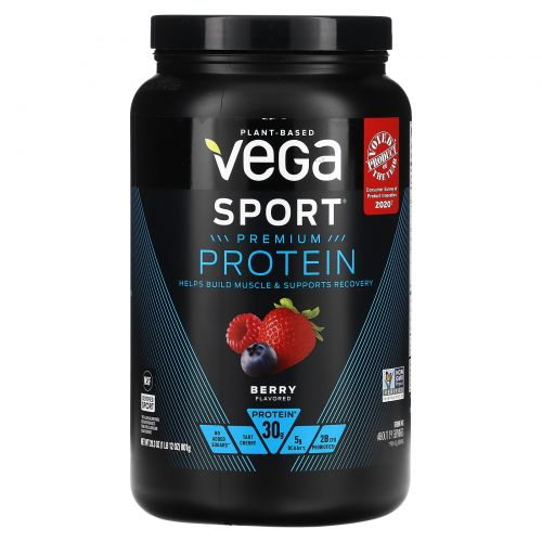 Vega, Sport, Performance Protein, Powder, Berry Flavor, 28.3 oz (801 g)