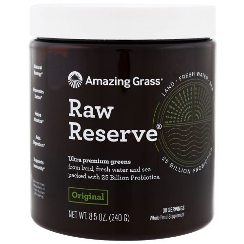 Amazing Grass, Green Superfood, Raw Reserve, 8.5 oz (240 g)