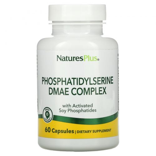 Nature's Plus, Комплекс фосфатидилсерина и ДМАЭ, 60 растительных капсул