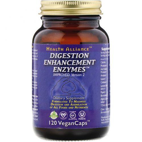 HealthForce Nutritionals, Ферменты для улучшения пищеварения, 120 овощных капсул