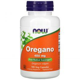 Now Foods, Орегано, 450 мг, 100 капсул