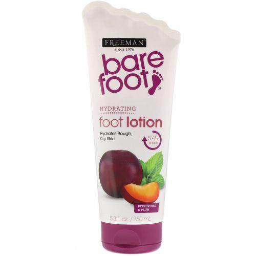 Freeman, Bare Foot, Hydrating, лосьон для ног, мята и слива, 5,3 ж. унц. (150 мл)
