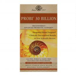 Solgar, 30 млрд пробиотиков, 30 вегетарианских капсул
