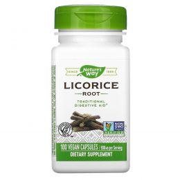 Nature's Way, Корень лакрицы, 450 мг, 100 капсул в растительной оболочке
