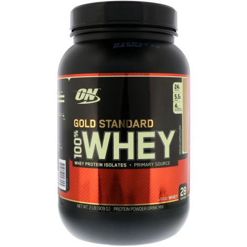 Optimum Nutrition, Gold Standard 100% Whey, Mocha Cappuccino, 2 lbs (909 g)