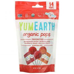 YumEarth, Органические фруктовые леденцы, 15 леденцов, 3 унции (85 г)