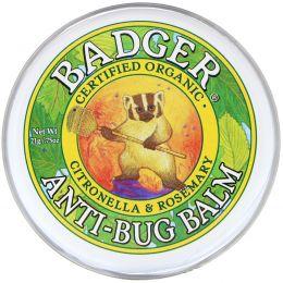Badger Company, Бальзам для защиты от насекомых с цитронеллой и розмарином, 0,75 унции (21 г)