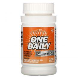 21st Century, One Daily, для женщин 50+, мультивитамины и мультиминералы, 100 таблеток