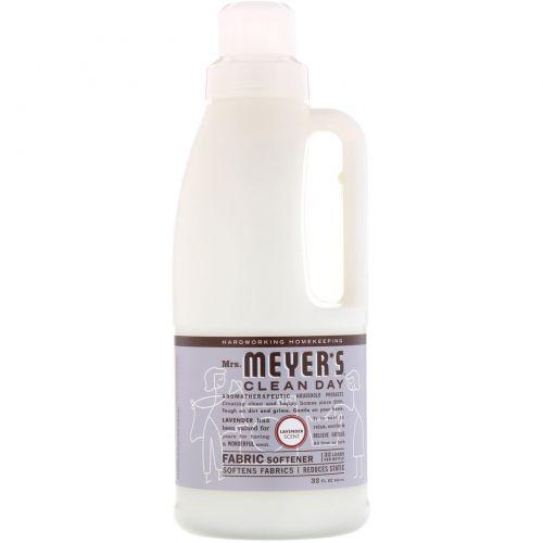 Mrs. Meyers Clean Day, Кондиционер для белья, аромат лаванды, 32 загрузки, 946 мл