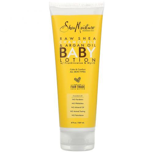 SheaMoisture, Raw Shea Chamomile & Argan Oil Baby Lotion, All Skin Types, 8 fl oz (237 ml)