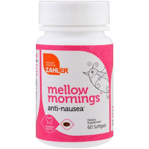 Zahler, Mellow Mornings, против тошноты, 60 капсул