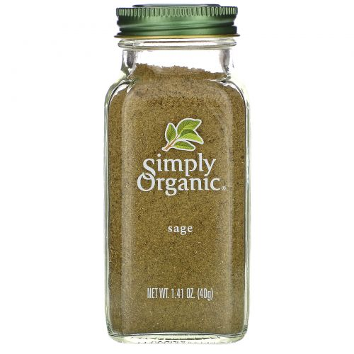 Simply Organic, Шалфей, 1.41 унций (40 г)