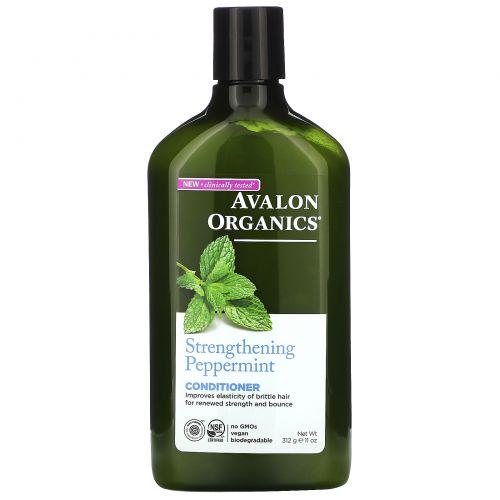 Avalon Organics, Кондиционер, укрепляющая перечная мята, 325 мл