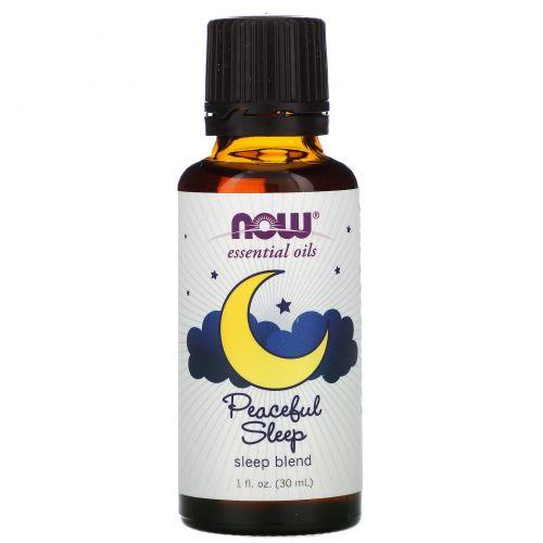 Now Foods, Эфирные масла, Смесь улучшающая сон, Спокойный сон, 1 жидкая унция (30 мл)