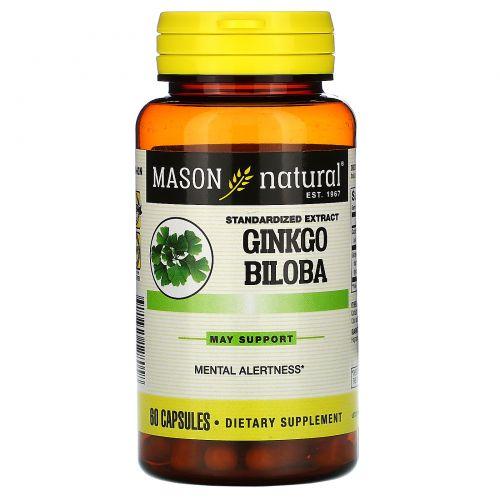 Mason Natural, Гинкго билоба, 60капсул