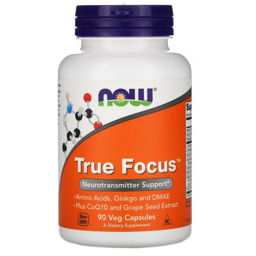 Now Foods, True Focus, 90 вегетарианских капсул