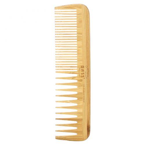Bass Brushes, Большой деревянный гребень, комбинация с редкими/частыми зубьями