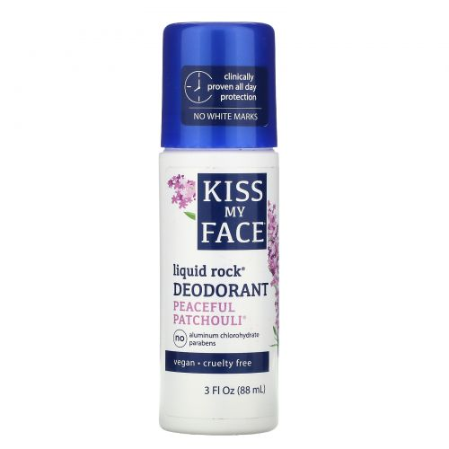 Kiss My Face, Liquid Rock Deodorant, Peaceful Patchouli, 3 fl oz (88 ml)