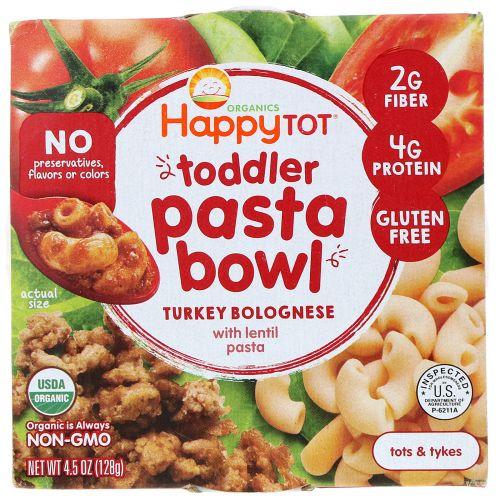 Happy Family Organics, Organics Happy Tot, паста быстрого приготовления, болоньезе с индейкой, 128г