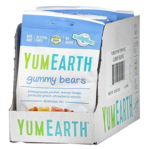 YumEarth, Натуральные Мишки Гамми, 12 упаковок, по 2.5 унции (71 г) каждый