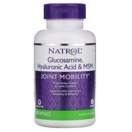 Natrol, Комплекс «Гиалуроновая кислота MСM и глюкозамин», 90 капсул