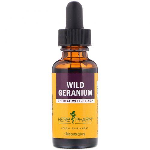 Herb Pharm, Дикая герань, 1 жидкая унция (30 мл)