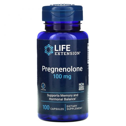 Life Extension, Прегненолон, 100 мг, 100 капсул