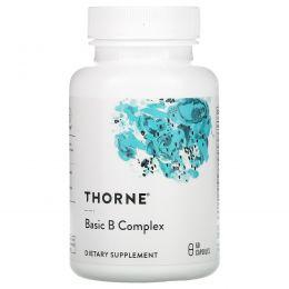 Thorne Research, Комплекс основных витаминов группы B, 60 вегетарианских капсул