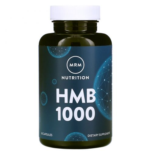 MRM, HMB 1000 для поддержания мышц, 60 капсул