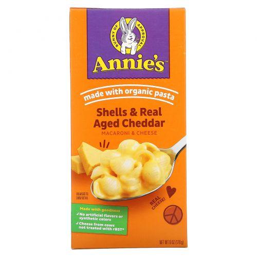 Annie's Homegrown, Макароны и сыром чеддер, 6 унций (170 г)