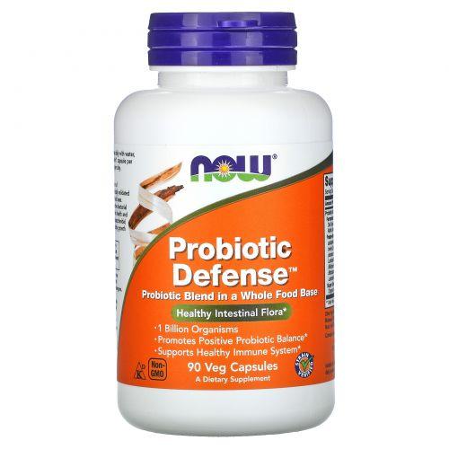 Now Foods, Пробиотическая защита, 90 Капсул