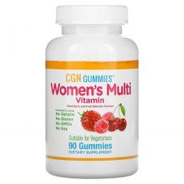 California Gold Nutrition, Мультивитамины для женщин в форме жевательных таблеток, без желатина, без глютена, со вкусом органических ягод и фруктов, 90 жевательных таблеток