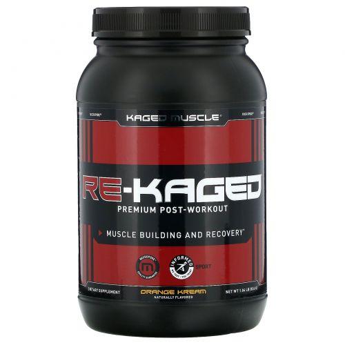 KagedMuscle, Re-Kaged, протеиновый анаболический стероид, сливки с апельсином, 936 г (2.06 lbs)