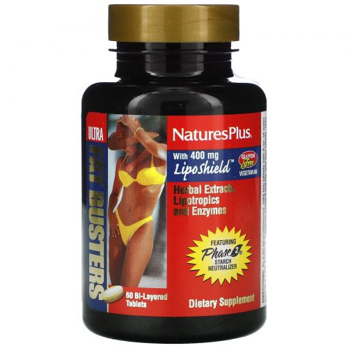 Nature's Plus, Ultra Fat Busters Жиросжигатель 60таблеток